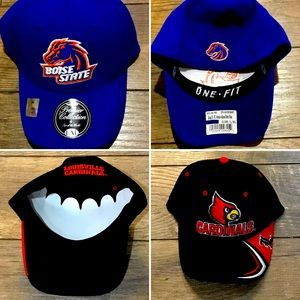Boise State and Louisville College Hats (NWT)